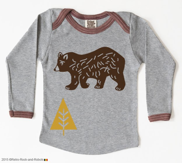 T-shirt bear grey cacao