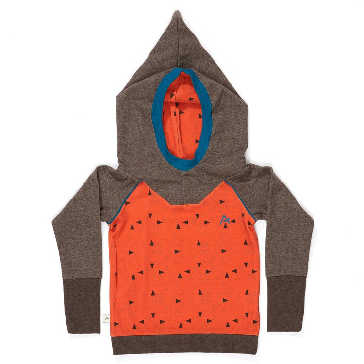 Habian Hood Blouse Rust Triangle