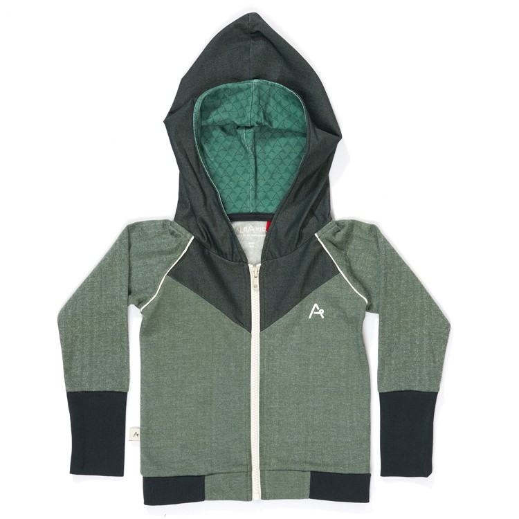 Haldor Zipper Hood Duck Green