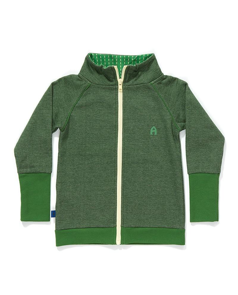 Frank zipper cardigan groen