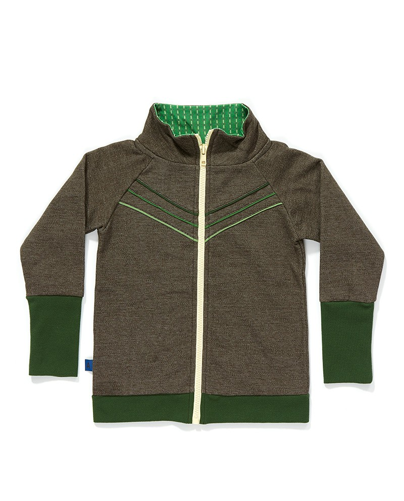 Frank zipper cardigan bruin