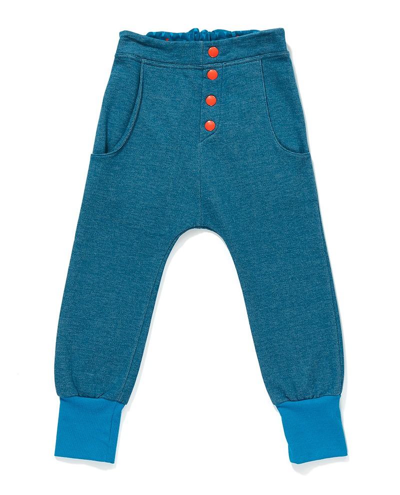 Fai button pants blauw