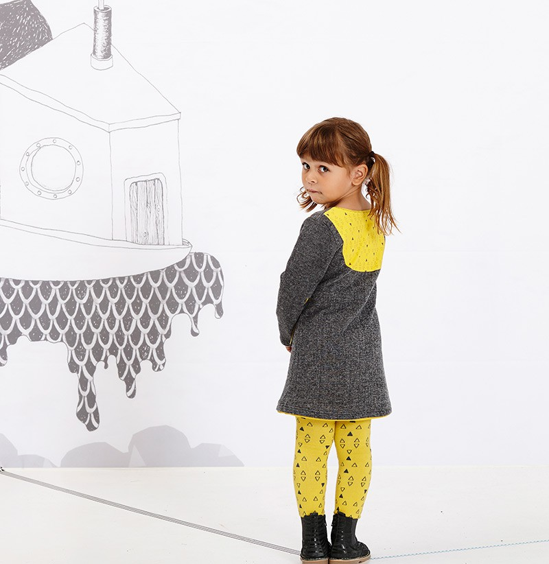 Fionella dress grijs