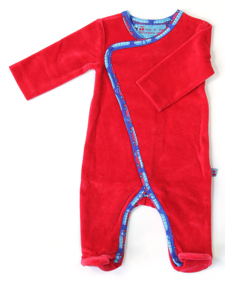 Rood velours jumpsuit
