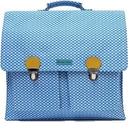Blauwe grote schooltas
