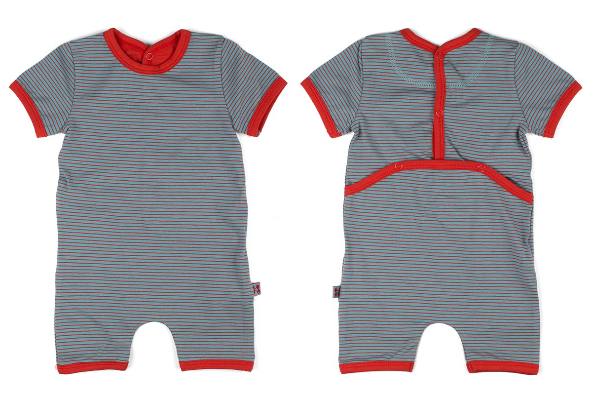 Baby combishort grey striped