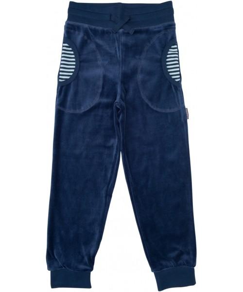 Blauw velour broek