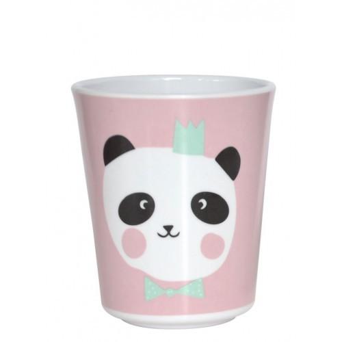 Panda pink Beker
