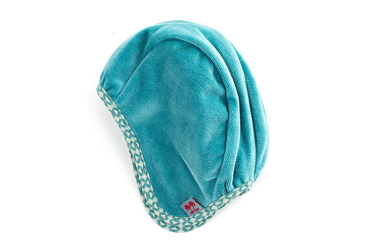 Baby Hat Grey Blue Velvet