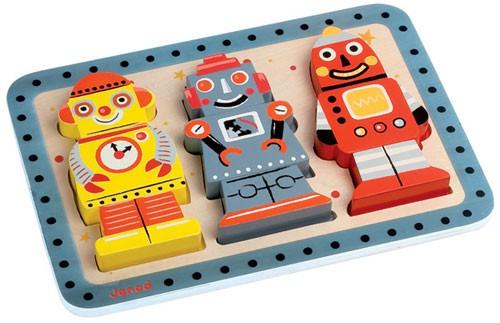 Inlegpuzzel robots