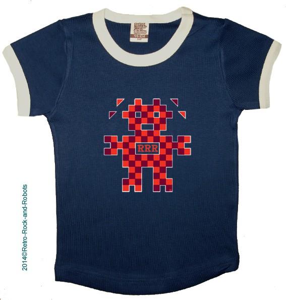 T shirt PIXELBOT navy