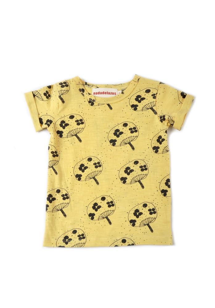 Yellow uchiwa T-shirt