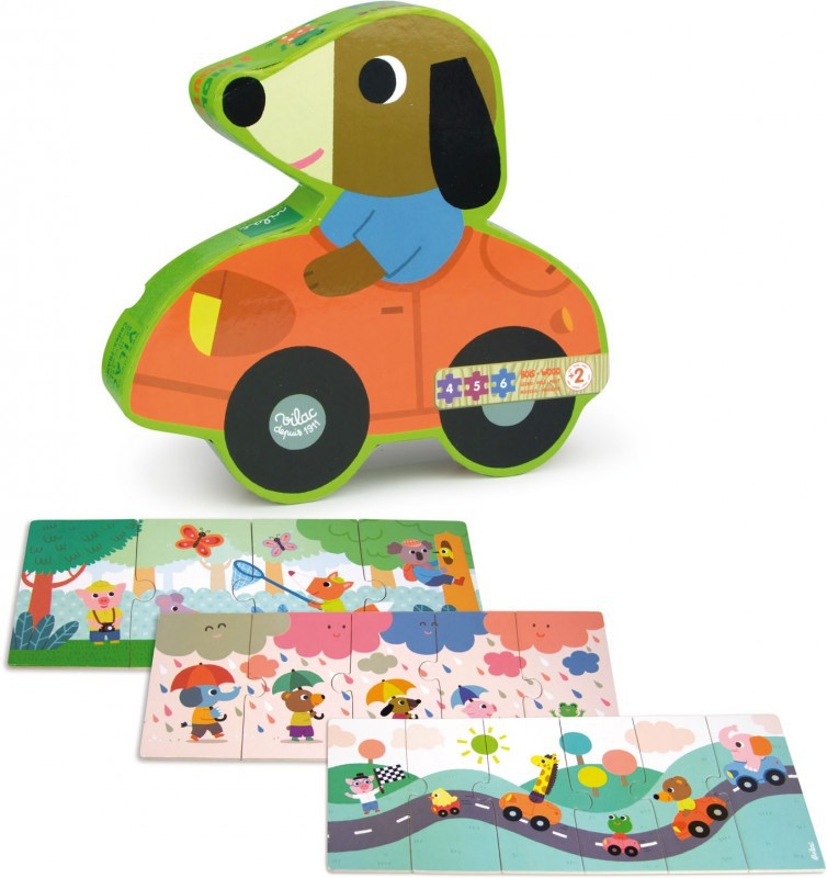 Alberto de hond puzzel set