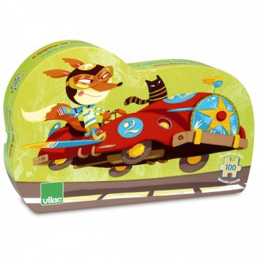 Auto race puzzel