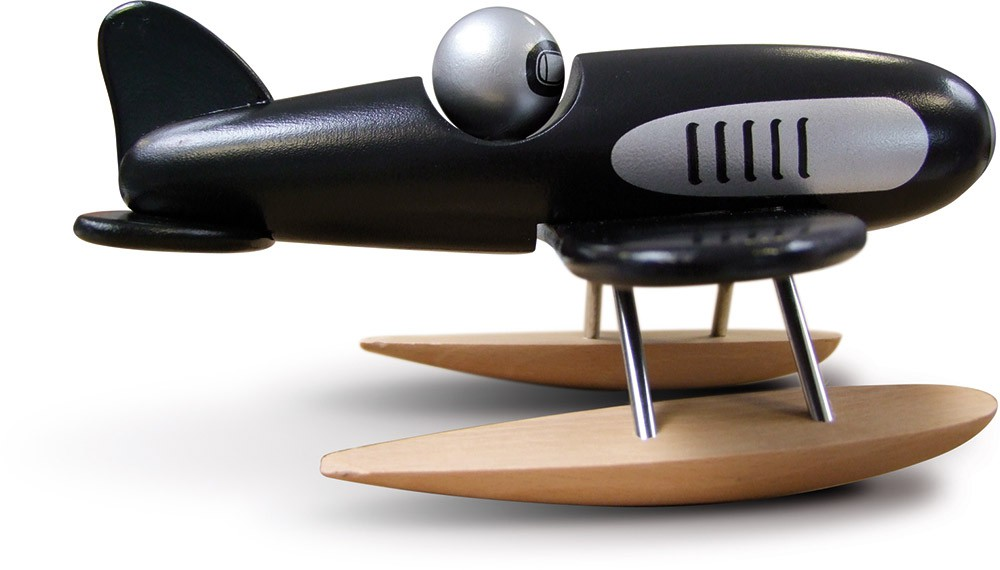 Zwart zeevliegtuig
