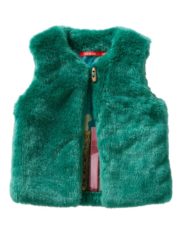 Cafur Bodywarmer Teddy Green