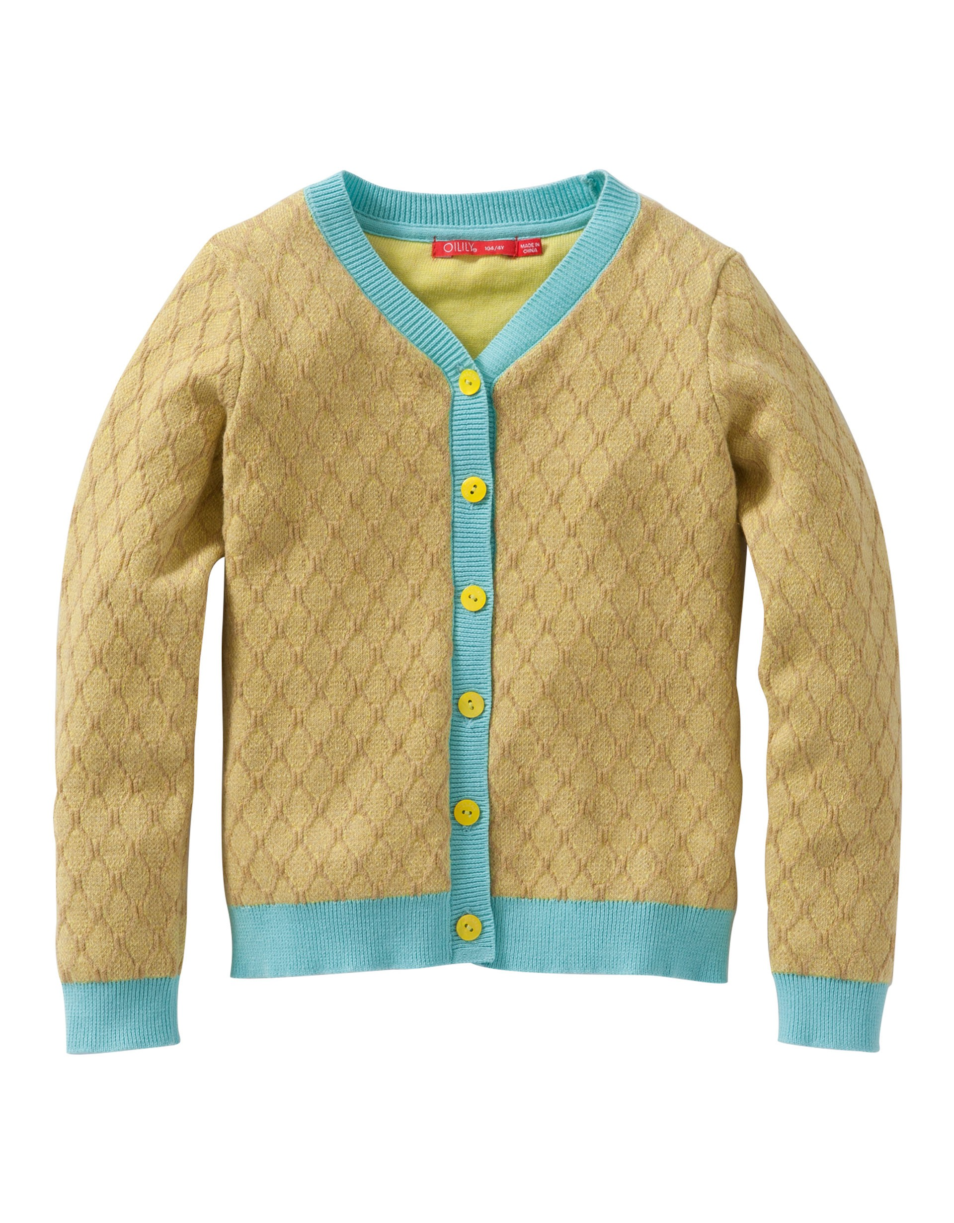 Kootje cardigan yellow-green