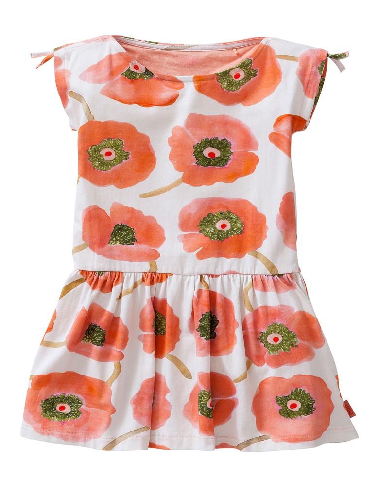 Poppy coral dress