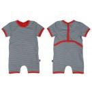 Baby combishort grey striped