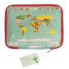 Tablethoes 'wereldkaart'