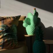 Cactus Lamp Pale Green
