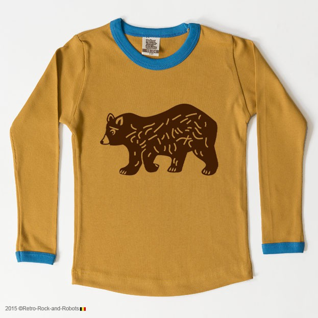 T-shirt bear honey blue
