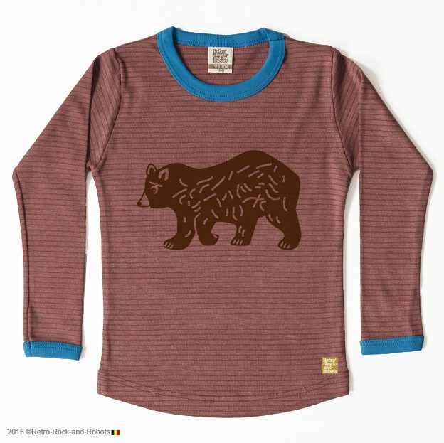 T-shirt bear cacao blue