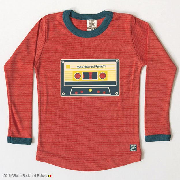 T-shirt Music Tape coral