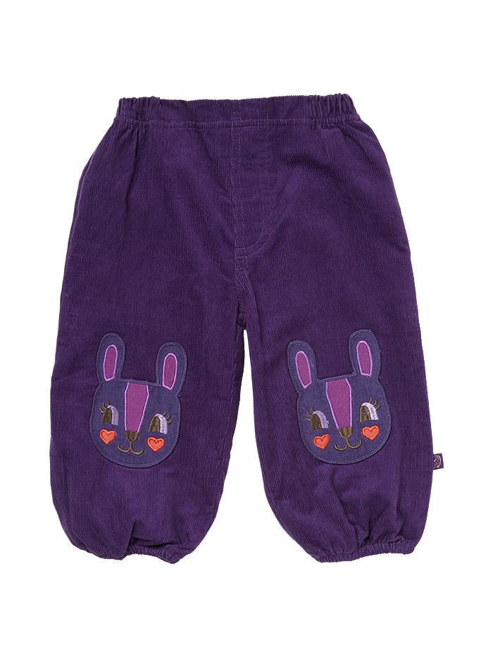 Velouren broek konijn