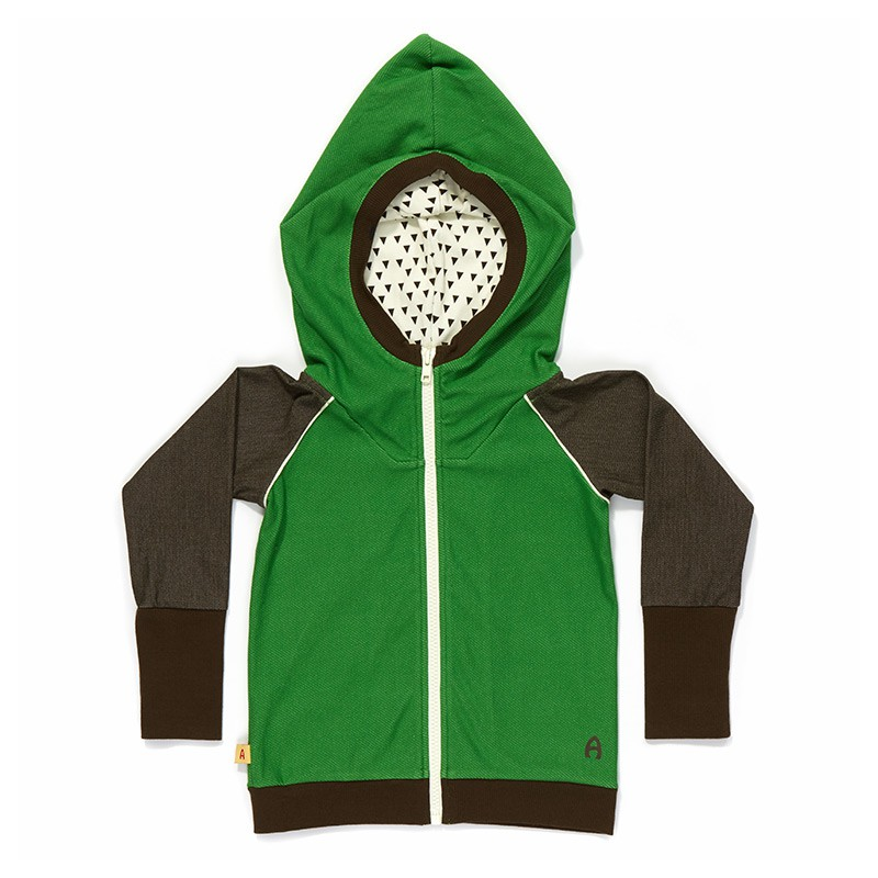 Einei zipper hoodie groen