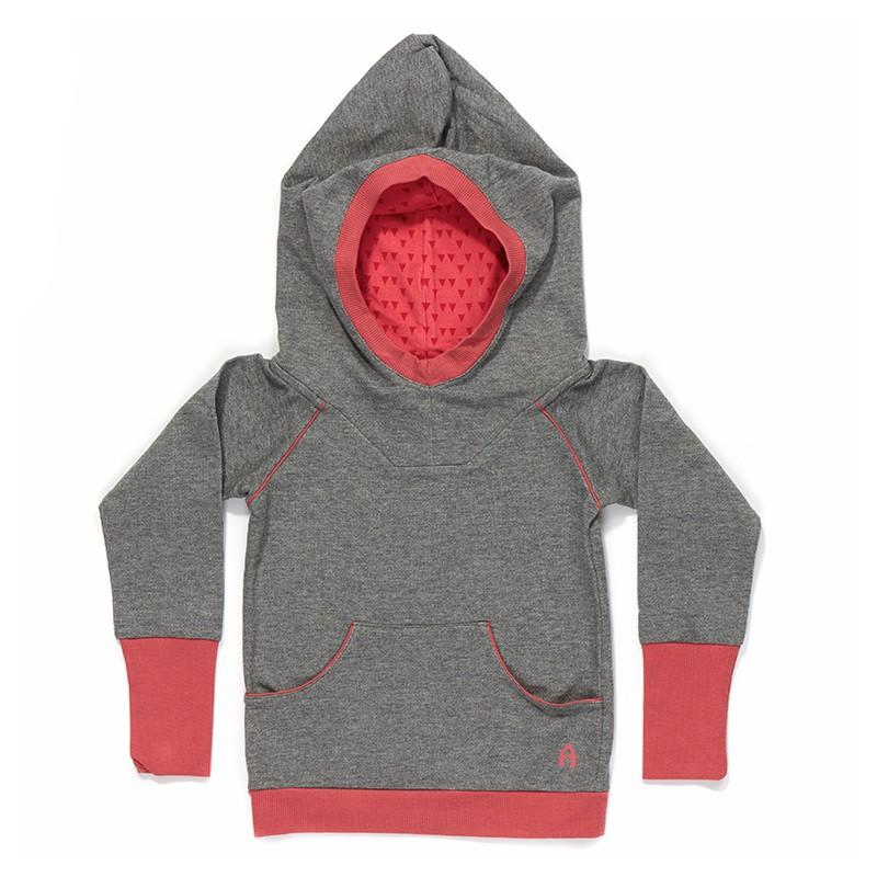 Eamy hoodie grijs-roze