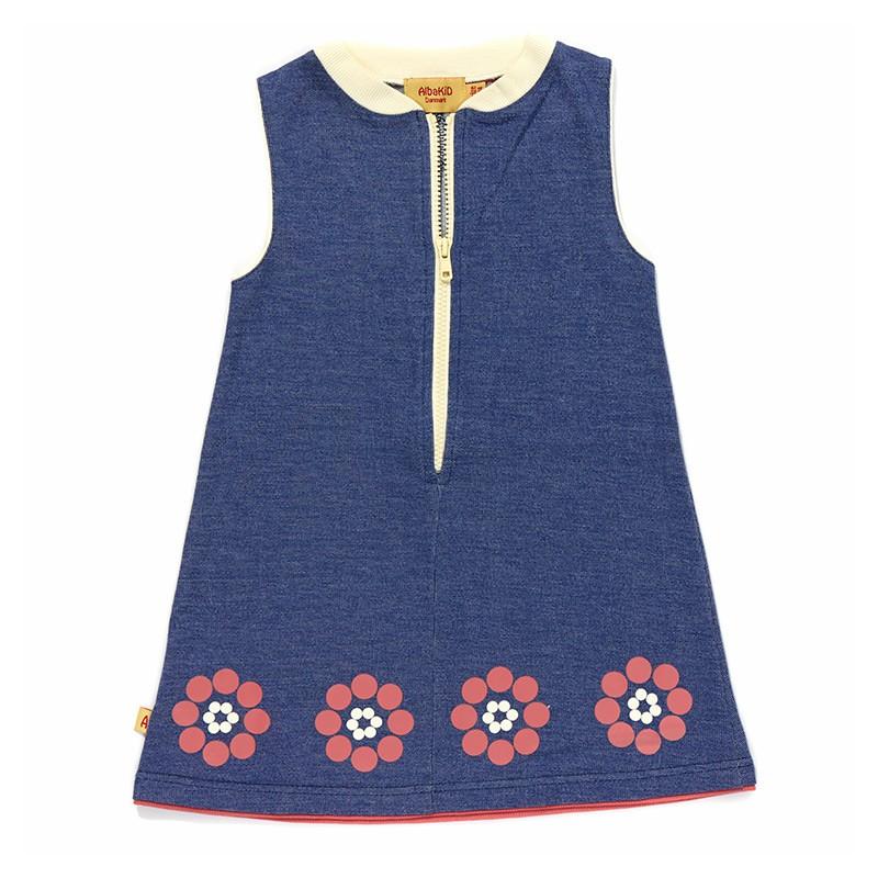 Erica Flower Dress blauw