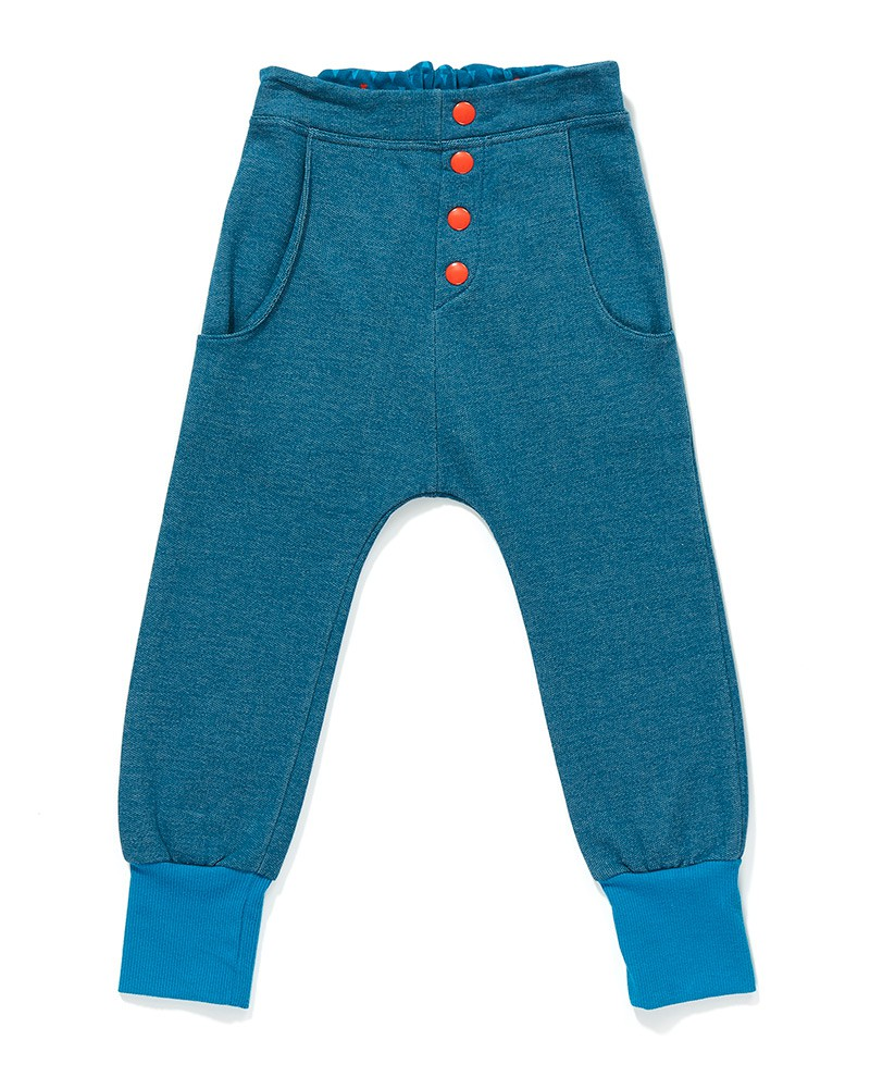 Fai button pants blauw