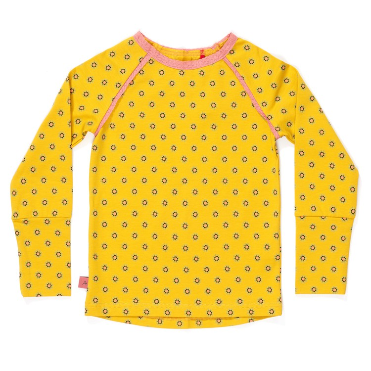 Helia Blouse Lemon Curry Flower