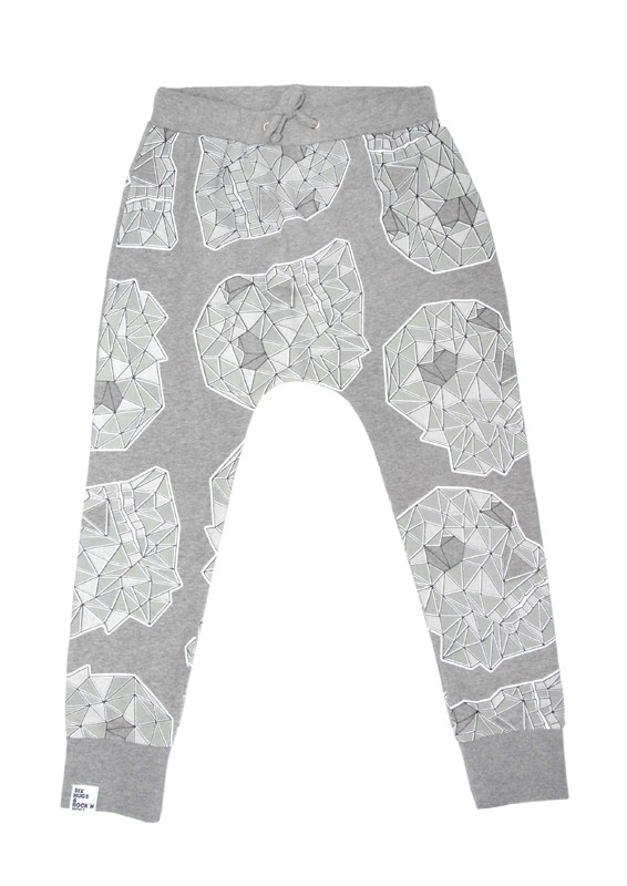 Sweatpants Grey Skulls