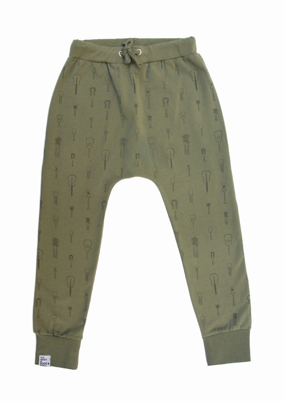 Sweatpants Khaki Trees