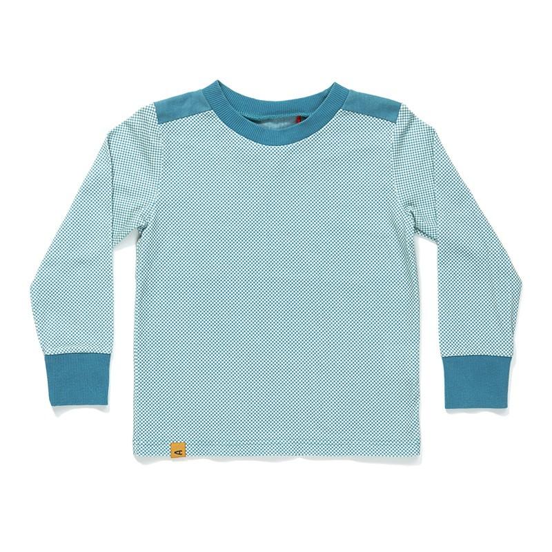 Gregers blouse blue cubes