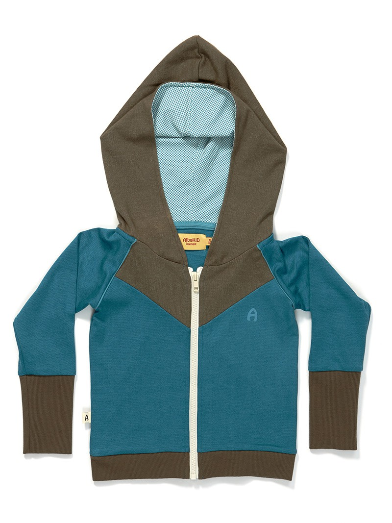 Gustav zipper hoodie blue