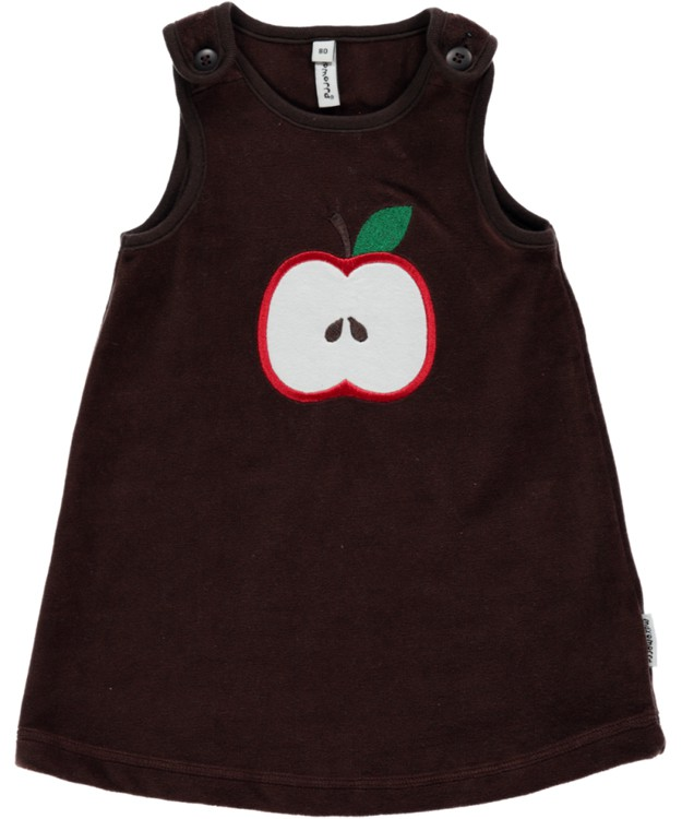 Overgooier bruin met appeltje