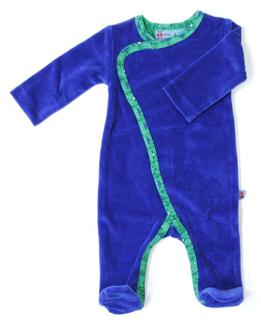 Blauw velours jumpsuit