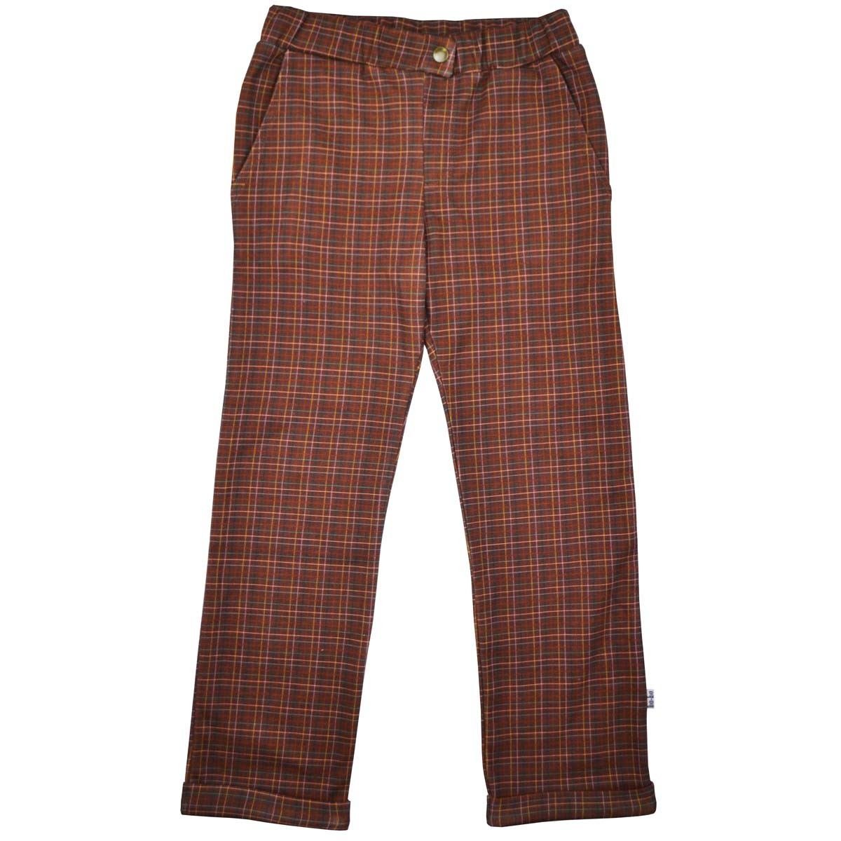 Brown Check Pants
