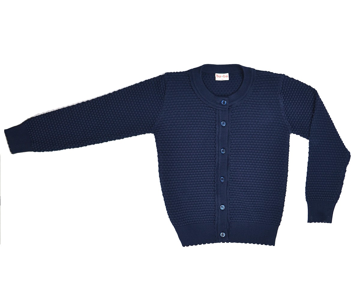 Cardigan knit blauw