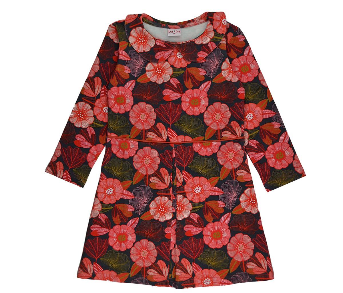 Collar dress flower