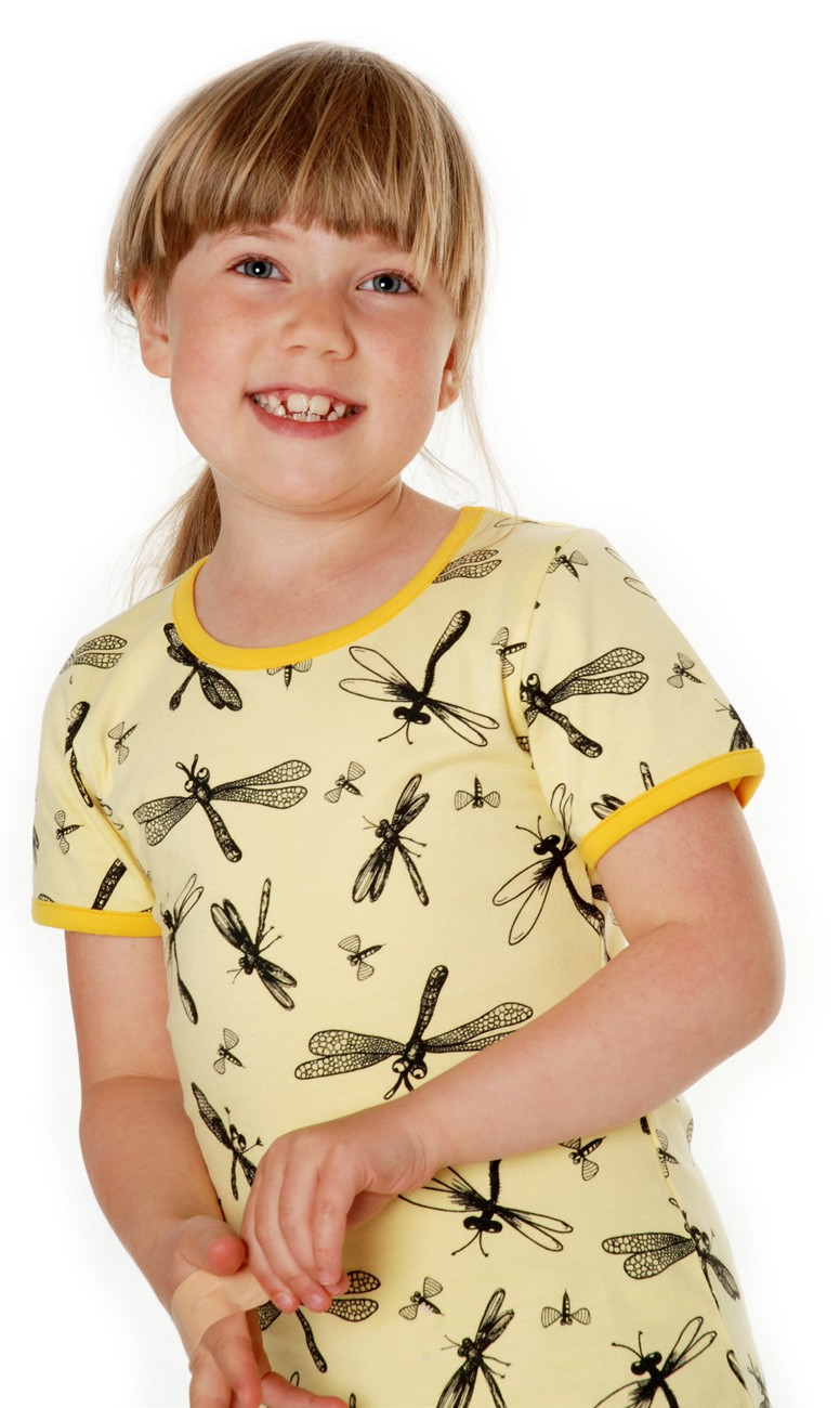 Dragonfly geel T-shirt