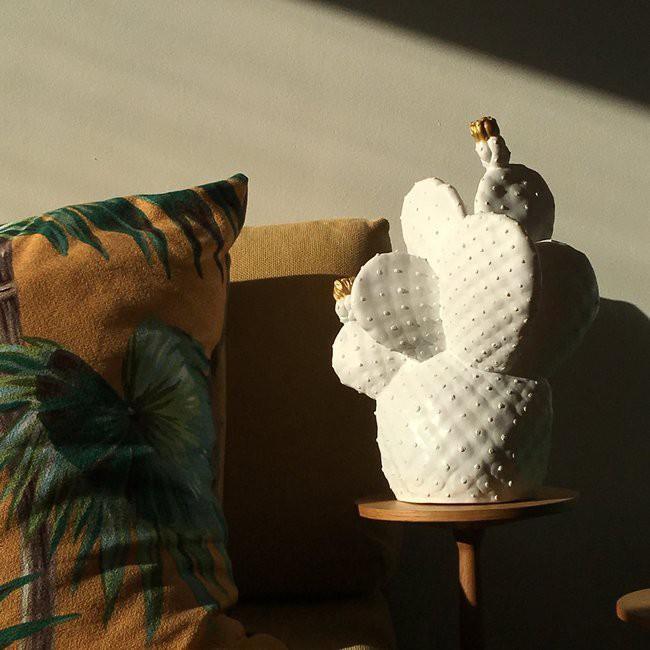 Cactus Lamp White