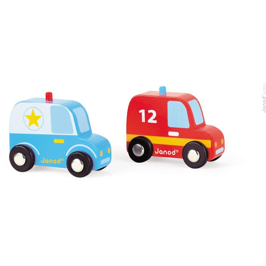 Set auto - Politie en brandweer