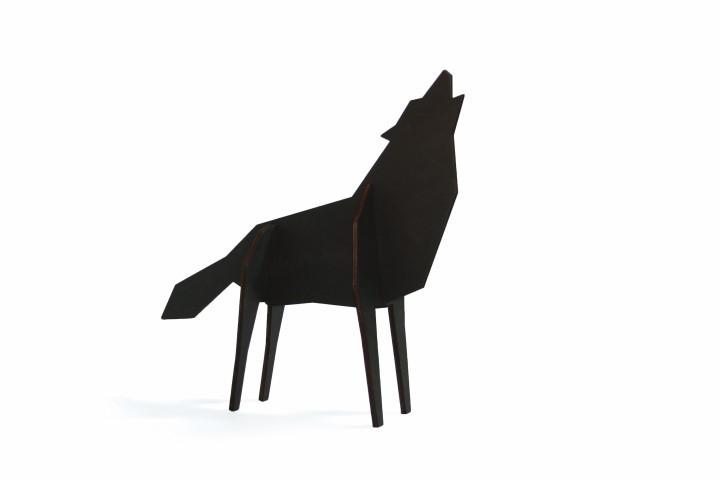 Wolf Black Large