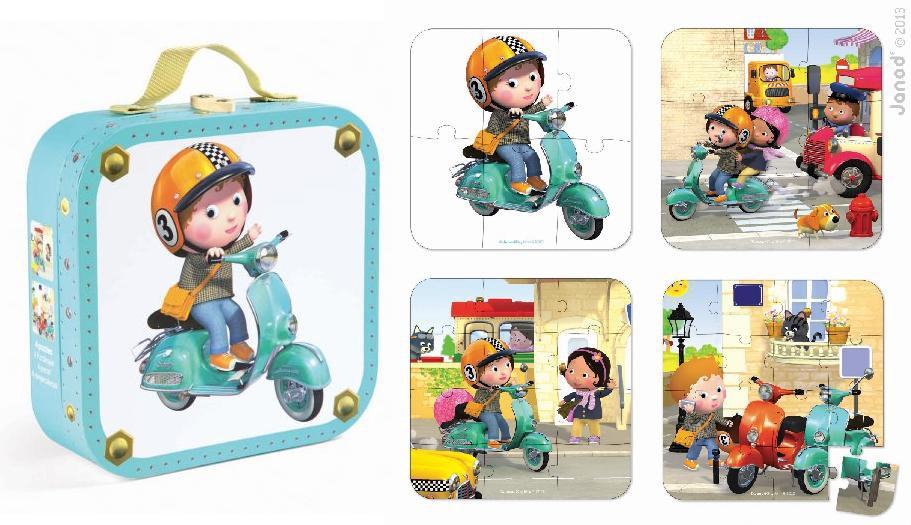 Puzzel Fleurus scooter