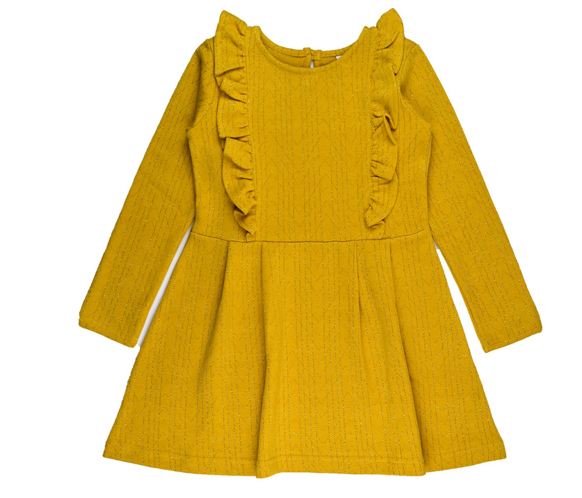 Ruffle dress gold