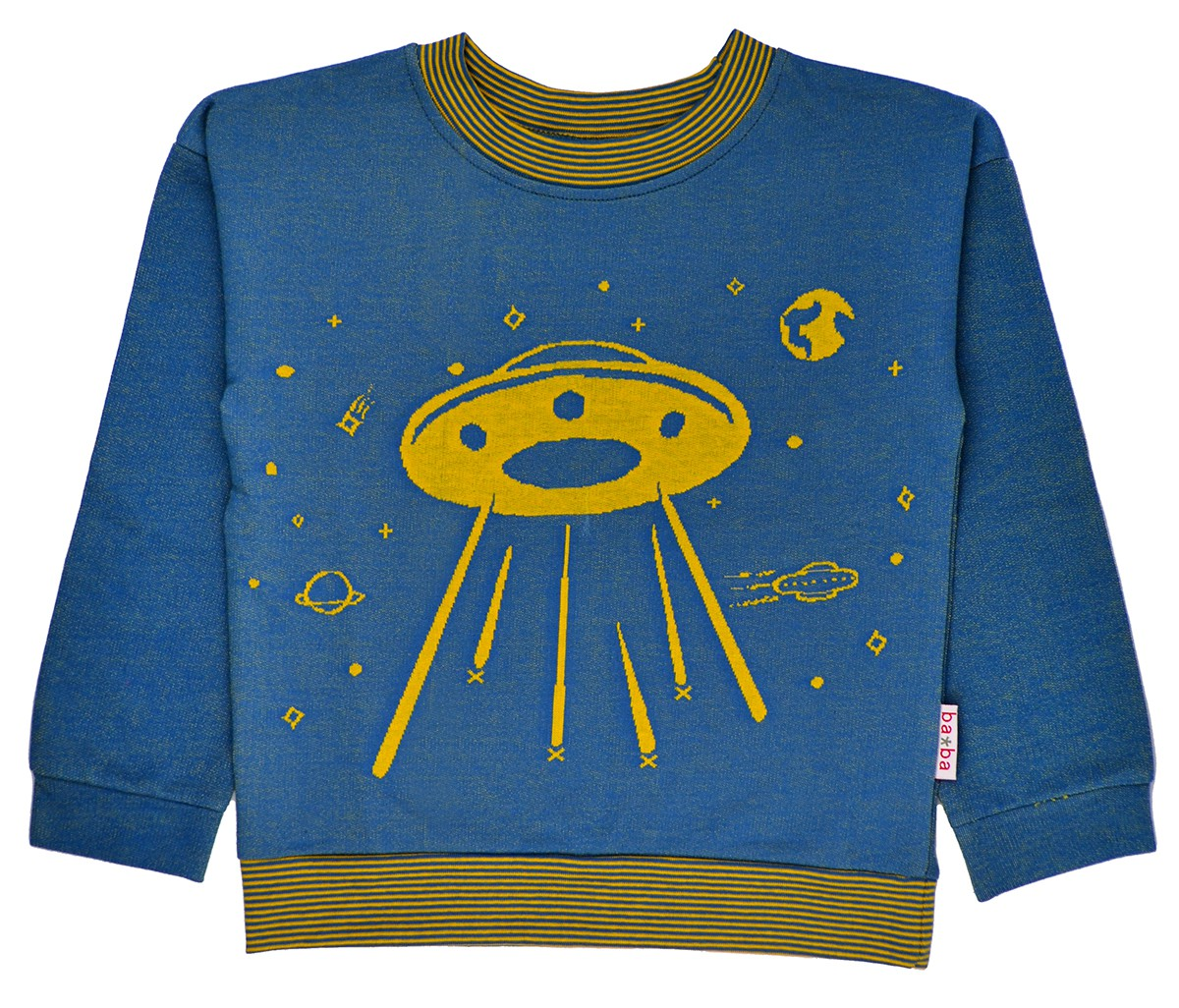 Space jaquard sweater